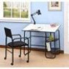 Student Desk + Lamp and Chair Bundle in Black for $69 + Shipping