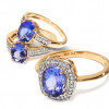 10kt Gold Tanzanite Rings w/ Diamonds – Your Choice for $299.99