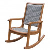 Grey Wicker Rocking Chair for $149.99