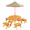 Octagon Table & 4 Stools w/ Umbrella for $124.99