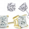 Certified 14kt Gold & Diamond Studs, 0.5-1.5 CTTW for $269.99