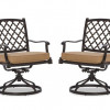 Cast-Aluminum Swivel Dining Arm Chair, Set of 2 for $196.99