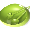 Salad Bowl & Servers Green for $19.99