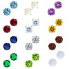 925 Sterling Silver Round Birthstone Stud Earrings 6mm for $9.99