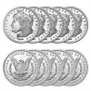 1 oz Sunshine Morgan Silver Rounds (New, Lot of 10) for $185.20