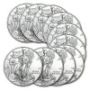 2014 1 oz Silver American Eagle (Lot of 10) for $266.64