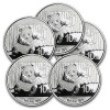 2014 1 oz Silver Chinese Panda Coin – Lot of 5 Coins – SKU #81198