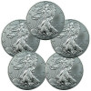 Lot of 5 – 2014 1 Troy Oz .999 Fine Silver American Eagle Coins SKU30461 for $129.27