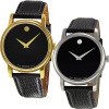 Movado Museum Leather Strap Watch   Choose Mens or Womens for $189.99