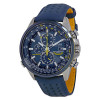 Citizen Eco Drive Blue Angels World Chronograph Leather Mens Watch AT8020-03L for $289.99