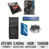 AMD FX-8310 CPU Barebones w/120GB SSD for $329.99