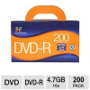 Color Research DVD Recordable Media – DVD-R, 16x, 4.70GB, Pack of 200 for $44.99
