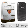 Matsunichi Portable External Hard Drive and Total Defense Premium Internet Security Bundle for $19.99