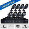 iSmart 16CH D1 DVR Surveillance System – 8 Outdoor Night 600TVL Home CCTV Security Camera, USB, HDMI, 500GB HDD for $199…