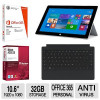 Surface 2 32GB Tablet (Refurbished), Software and Cover Bundle for $369.99