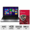 HP 355 G2 AMD Dual-Core 15.6″ Notebook PC and McAfee 2015 Multi Access 1 User 5 Devices for $199.97