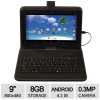 Proscan 9″ Tablet – Android 4.2 Jelly Bean, 8GB Storage, Camera, WiFi, Case & Keyboard for $79.99