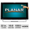 Planar 22″ Class LED Touchscreen Monitor – 5-point multitouch, Win7 / Win8, HDMI, DVI, VGA for $219.97