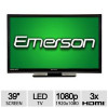 Emerson 39″ Class 1080p LED HDTV – Full HD, 1920x1080p Resolution, 16:9, 3x HDMI (Refurbished) for $199.97