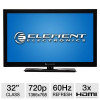 Element 32″ Class LCD HDTV – 720p, 60Hz, 3x HDMI (Refurbished) for $124.97