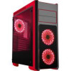 DIYPC DIY-TG8-BR Black/Red Dual USB3.0 Steel/ Tempered Glass ATX Mid Tower Gaming Computer Case w/Tempered Glass Panels …