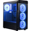 DIYPC VisionII-BL Black USB3.0 Steel / Tempered Glass ATX Mid Tower Gaming Computer Case w/ Tempered Glass Panels (Front…
