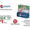 Frys B&M Promo code required 1 dollar 12 packs of Pepsi products Soda.