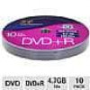 Color Research DVD+R 10-Pack – 10-Pack, 16X, 120 mins, 4.7GB FAR & Free Shipping TigerDirect