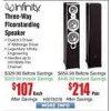 Infinity Primus 363 6.5″ Tower Speaker – Single $107 @Frys with Store Pick-Up Only, *Not Available for Shipping*