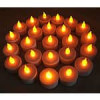24 LED Flameless Amber Colored Battery Operated Tealights – For $7.49 + Free Shipping