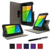 RooCASE Nexus 7 FHD (2013) Cases: Dual-View Multi-Angle + Executive Portfolio Leather Cover $11 for Two Cases w/ Free Sh…
