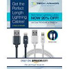 20% Off 2 feet or 6 feet Tech Armor Apple MFi Certified Braided Lightning Cable $11.16 and $11.96 with FS
