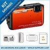 Nikon Coolpix AW110 Digital Camera w/ GPS, Orange (Refurbished) + 8GB SD Card, Camera Pouch, Cleaning Kit & Memory Card …