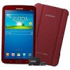 Samsung Galaxy Tab 3 7″ Tablet Garnet Red Edition with Book + 8GB MicroSD Card + 3 Free Months of Netflix $150 + Free Sh…