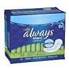 Always: 22-Ct Maxi Unscented Pads w/o Wings, Long/Super or 16-Ct Ultra Regular w/ Wings, Clean Scent Thin Pads $1.84 or …