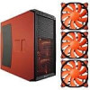 Corsair Graphite Series 230T Orange & Black Mid Tower Case & 3-Pack of 120mm Cougar Vortex Orange HDB Case Fans (CFV12H)…
