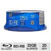 25-Pack of Color Research 25 GB 2x BD-RE Media (C18-42023) for $9.99 AC AR or 50-Pack of Color Research 25 GB 6x BD-R Me…
