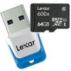 Lexar 600x MicroSD Memory Card + USB 3.0 Reader (Up to 90MB/s read & 10-25 MB/s write): 64GB $43, 32GB $23, 16GB $15 + F…