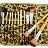 12-Pc Make-Up Brush Set with Leopard Pouch for $14.99