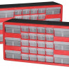 26-Drawer Hardware & Craft Cabinets 2-Pack for $41.99