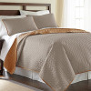 3-Piece Solid Reversible Coverlet Set for $24.99