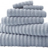 6-Piece Luxury Spa Wavy Quick-Dry Towel Set for $21.99