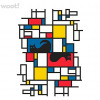Schrodinger's Cat in the Style of Mondrian for $7.00
