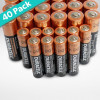 40-Pack: Duracell Alkaline Batteries – 32 AA & 8 AAA Batteries Included! for $17.99