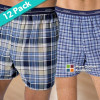 12-Pack: Hanes Tagless Boxers w/Comfort Flex Waistband for Men in Assorted Colors – Size S-XL! for $24.99
