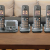 Panasonic Expandable DECT 6.0 1.9GHz Cordless Digital Phone & Answering System w/ 4 Handsets (Refurbished)! for $49.99