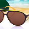 LACOSTE Aviator Sunglasses w/ LACOSTE Hard Case & Lens Cloth! for $32.99